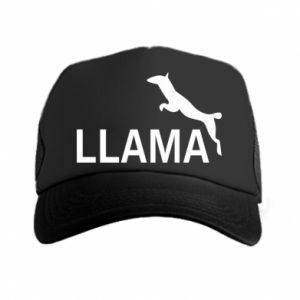 Czapka trucker Lama is jumping
