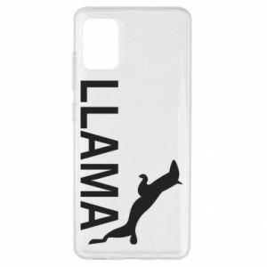 Etui na Samsung A51 Lama is jumping