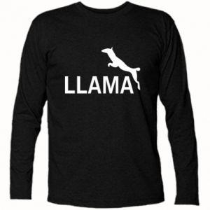 Koszulka z długim rękawem Lama is jumping