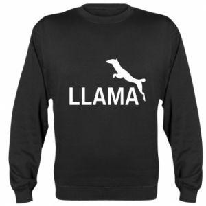 Sweatshirt Lama is jumping