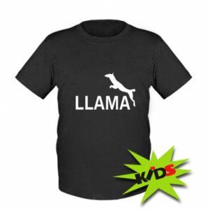 Dziecięcy T-shirt Lama is jumping