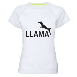 Koszulka sportowa damska Lama is jumping