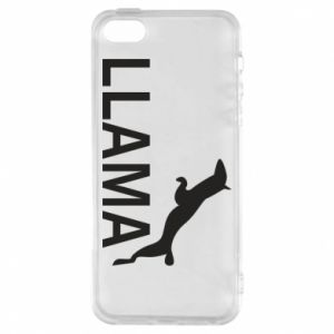 Etui na iPhone 5/5S/SE Lama is jumping