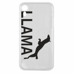 Etui na iPhone XR Lama is jumping