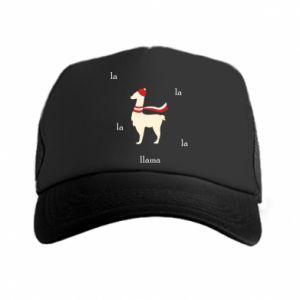 Czapka trucker Lama w kapeluszu