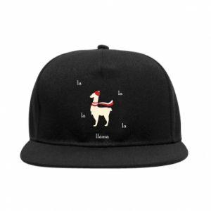 SnapBack Llama in a hat
