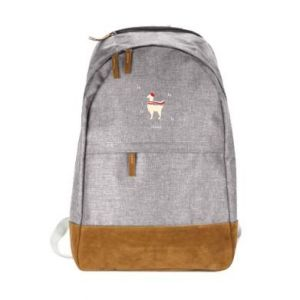 Urban backpack Llama in a hat