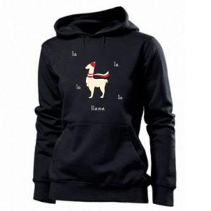 Women's hoodies Llama in a hat