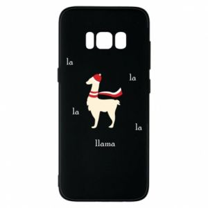 Phone case for Samsung S8 Llama in a hat