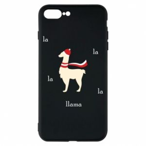 Phone case for iPhone 8 Plus Llama in a hat