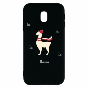 Phone case for Samsung J3 2017 Llama in a hat