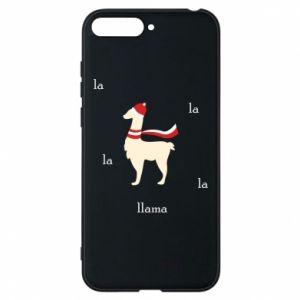 Phone case for Huawei Y6 2018 Llama in a hat