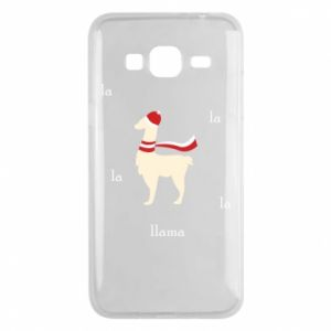 Phone case for Samsung J3 2016 Llama in a hat