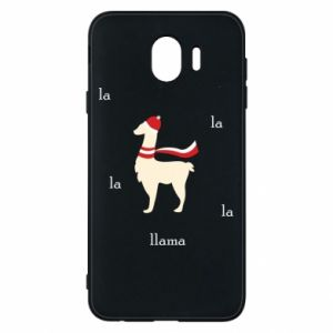 Phone case for Samsung J4 Llama in a hat