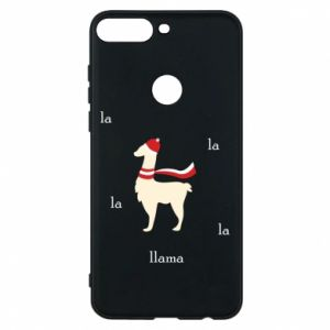 Phone case for Huawei Y7 Prime 2018 Llama in a hat