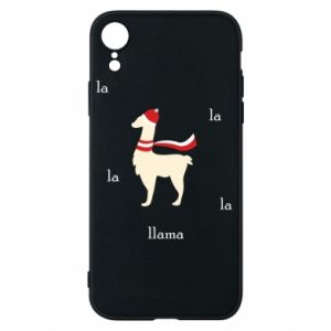 Phone case for iPhone XR Llama in a hat