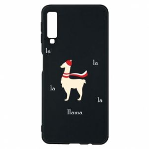 Phone case for Samsung A7 2018 Llama in a hat