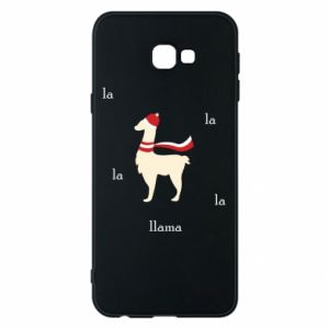 Phone case for Samsung J4 Plus 2018 Llama in a hat