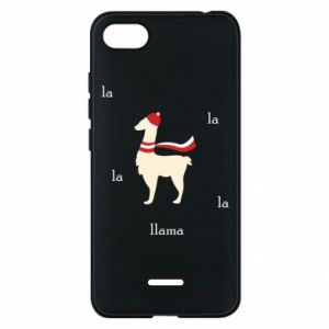 Phone case for Xiaomi Redmi 6A Llama in a hat