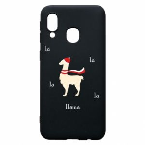 Phone case for Samsung A40 Llama in a hat