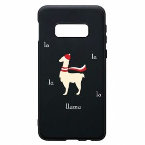 Phone case for Samsung S10e Llama in a hat
