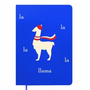 Notepad Llama in a hat