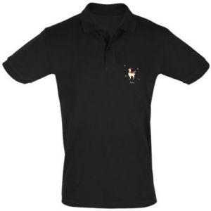 Men's Polo shirt Llama in a hat