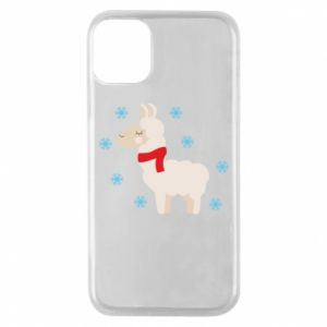 Phone case for iPhone 11 Pro Llama in the snow