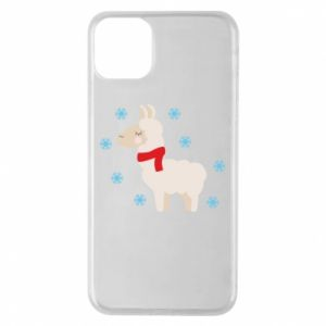 Phone case for iPhone 11 Pro Max Llama in the snow