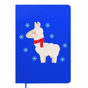 Notepad Llama in the snow
