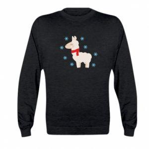 Bluza dziecięca Lama w śniegu