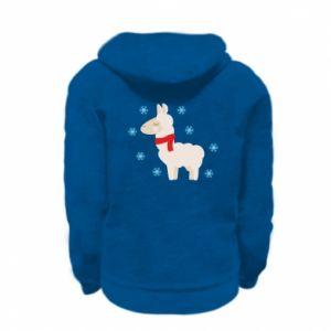 Bluza na zamek dziecięca Lama w śniegu