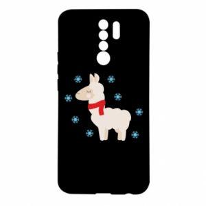 Xiaomi Redmi 9 Case Llama in the snow