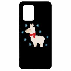 Etui na Samsung S10 Lite Lama w śniegu