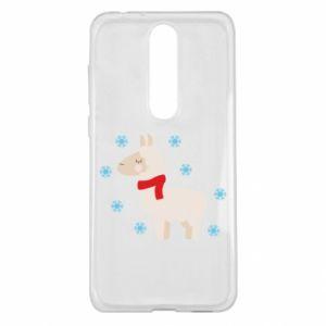 Etui na Nokia 5.1 Plus Lama w śniegu
