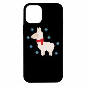 Etui na iPhone 12 Mini Lama w śniegu