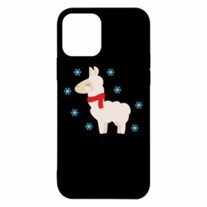 Etui na iPhone 12/12 Pro Lama w śniegu