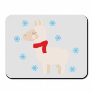 Podkładka pod mysz Lama w śniegu