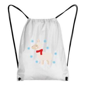 Plecak-worek Lama w śniegu