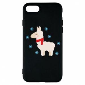 Etui na iPhone 7 Lama w śniegu