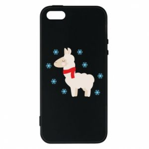 Phone case for iPhone 5/5S/SE Llama in the snow