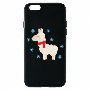 Phone case for iPhone 6/6S Llama in the snow