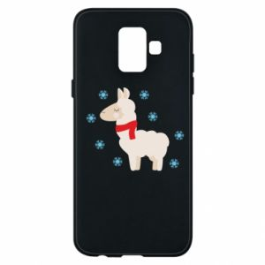 Phone case for Samsung A6 2018 Llama in the snow