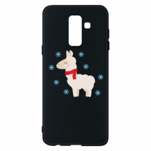 Phone case for Samsung A6+ 2018 Llama in the snow