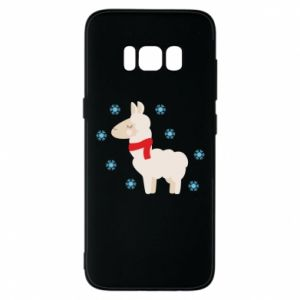 Phone case for Samsung S8 Llama in the snow
