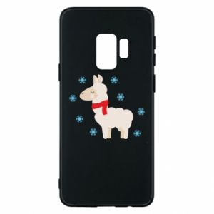 Phone case for Samsung S9 Llama in the snow