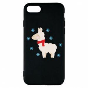 Etui na iPhone 8 Lama w śniegu