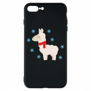 Phone case for iPhone 8 Plus Llama in the snow