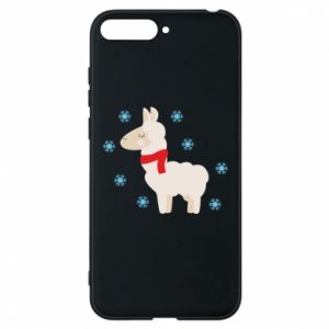 Phone case for Huawei Y6 2018 Llama in the snow