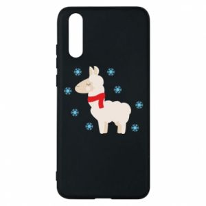 Phone case for Huawei P20 Llama in the snow